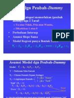 Bab 5 Model Regresi Dgn Peubah Dummy