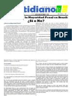 Reducción de la Mayoridad Penal en Brasil - Investigación