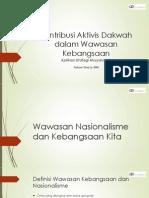 Kontribusi Aktivis Dakwah Dalam Wawasan Kebangsaan