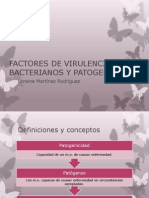 Factores de Virulencia Bacterianos y Patogenicidad
