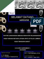 Seminar S1 IPB Eric - Mengenai Kerang Mutiara di Lombok - Nusa Tenggara Barat, Indonesia