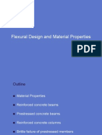Flexural Design and Material Properties for Reinforced Concrete and Prestressed Concrete