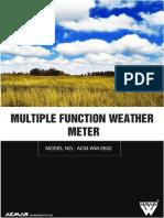 Multiple Function Weather Meter