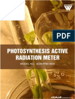 Photosynthesis Active Radiation Meter