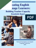 Educating Ells Building Teacher Capacity Vol 1