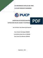 Informe-Extracción Sólido-Líquido y Evaporación al vacío FINAL