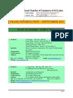 Sri Lanka Chamber Trade Information