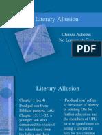 No Longer at Ease -Literary Allusions