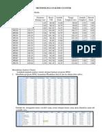 Metodologi Analisis Cluster