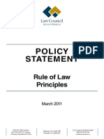 Policy Statement Rule of Law