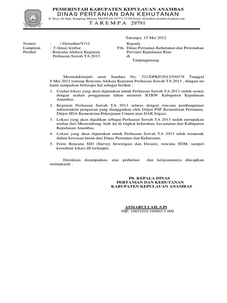 Surat Balasan Undangan Resmi Surasmi B