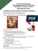 Pew Sheet 29 Sept 2013 St Matts Day
