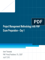Day 1 - Project Management Methodology With PMP Exam Preparation Ver 1