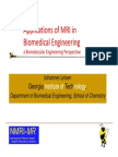 Applications of MRI in Biomedical Engineering