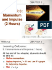 Chapter3 Momentum and Impulse Student