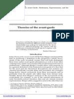 OnPeterBurgerS_theory of AvantGarde
