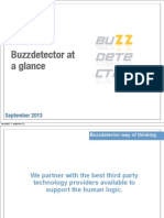 Buzzdetector at a Glance September, 2013
