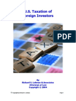 United States Taxation of Foreign Investors