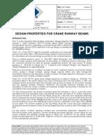 Design Properties for Crane Runway Beams