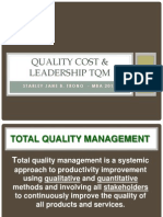 Quality Cost & Leadership Tqm
