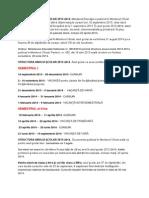 STRUCTURA ANULUI SCOLAR 2013-2014