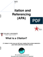 Citation and Referencing (APA) V2 0913