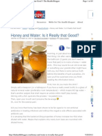 Honey and Water is It Really That g