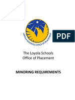 Minoring Requirements for Ateneo