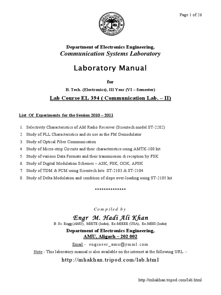 Communication lab manual el394pdf modulation frequency modulation fandeluxe Image collections
