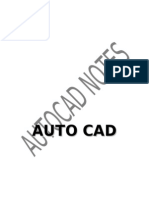 AutoCAD Notes