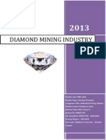 Environmental Analysis of Diamond Mining Industry
