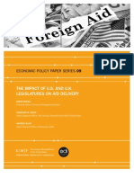 The Impact of U.S. and U.K. Legislatures on Aid Delivery