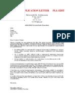 Sample Application Letter Pls