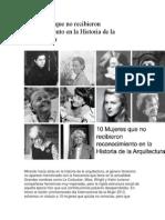 10 Mujeres Que No Recibieron Reconocimiento en La Historia de La Arquitectura