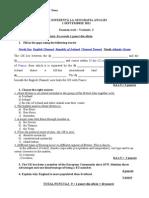 Examen de Diferenta - Geografie - Scris - Varianta 2 - 1 Septembrie 2011