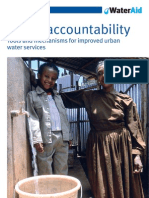 Social Accountability Tools Mechanisms Urban Water Services
