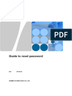 Guide to Reset Password