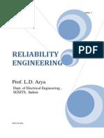 Reliability L.D. Arya