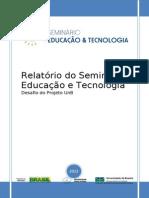 Relatorio do Seminario Educacao e Tecnologia desafio do Projeto versão final.doc