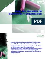 Valoración Procesos de planeación y organización institucional