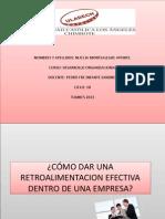Retroalimentacion Efectiva en La Empresa- Montealegre Aponte Nuccia