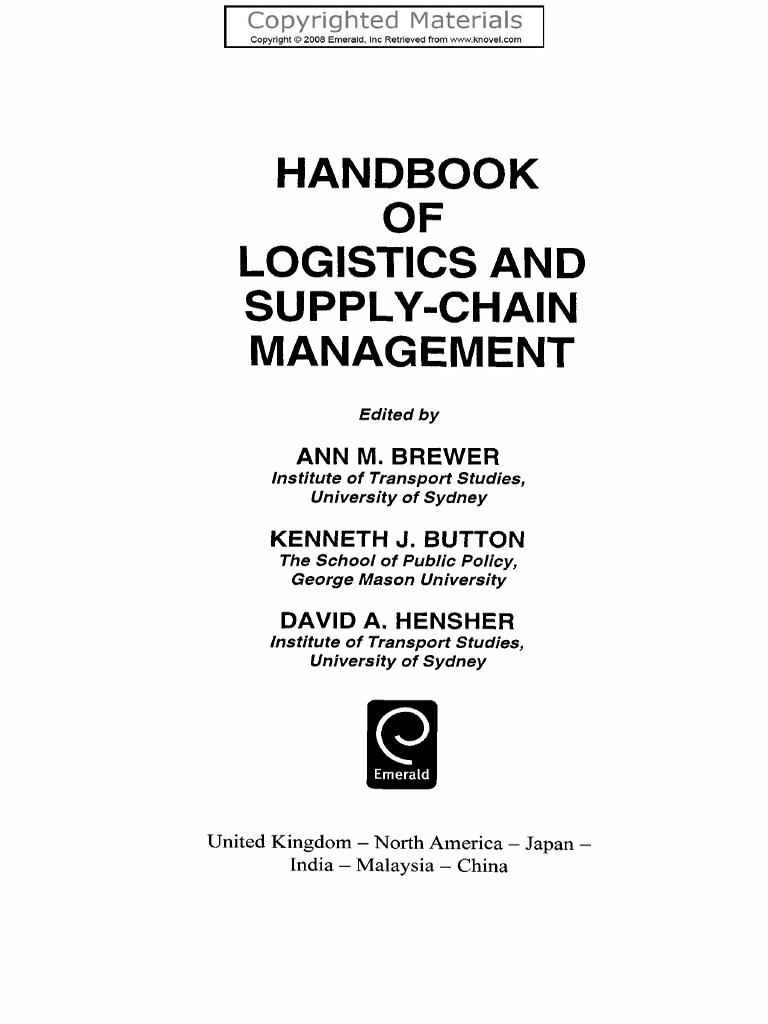 k j button d a hensher handbook of logistics and supply chain rh scribd com Quality Control Procedures Good Quality Control