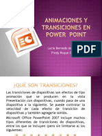 Animaciones y Transiciones en Power Point