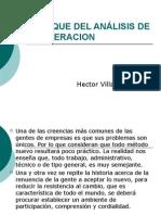 ENFOQUE DEL ANÁLISIS DE LA OPERACION