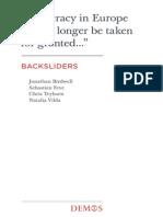 Birdwell, Tryhorn, Feve & Vibla (2013). Backsliders