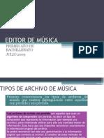 EDITOR DE MÚSICA