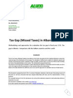 Tax Gap (missed taxes) in Albania, and Balkans 2012