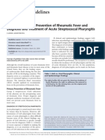AHA Guidelines on Prevention of Rheumatic Fever