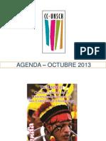 - AGENDA – OCTUBRE  2013