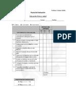 Pauta de Evaluación educación Física